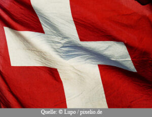 Presseverteiler Schweiz - Flagge von der Schweiz