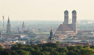 Presseverteiler München - Vogelperspektive über München