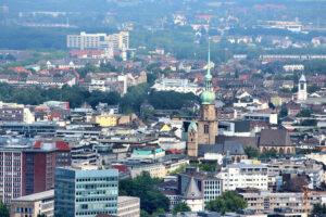 Presseverteiler Dortmund - Vogelperspektive über Dortmund